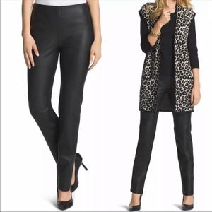 Chicos Abbey Pieced Faux Leather Pants